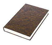 Black book with brown pattern lying — Stock Photo