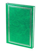 Green book standing isolated — Stock Photo