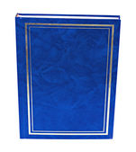 Blue book standing isolated — Stock Photo