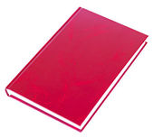 Maroon book lying isolated — Stock Photo