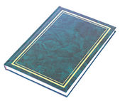 Blue book lying isolated — Stock Photo