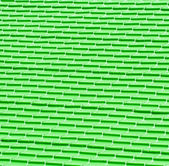 Green metal tiles on a roof — Stock Photo