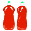 Red bottles with cleaning liquid — Stock Photo #44294951