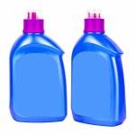 Blue plastic bottles for liquid soap — Stock Photo #44553757