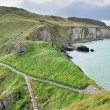 Stock Photo: Rope bridge footpath