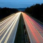Highway at night — Stock Photo