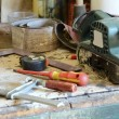 Tools on the workbench — Stock Photo