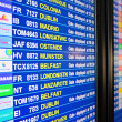 Stock Photo: Departures board