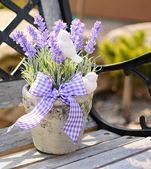 Lavender decoration — Stockfoto