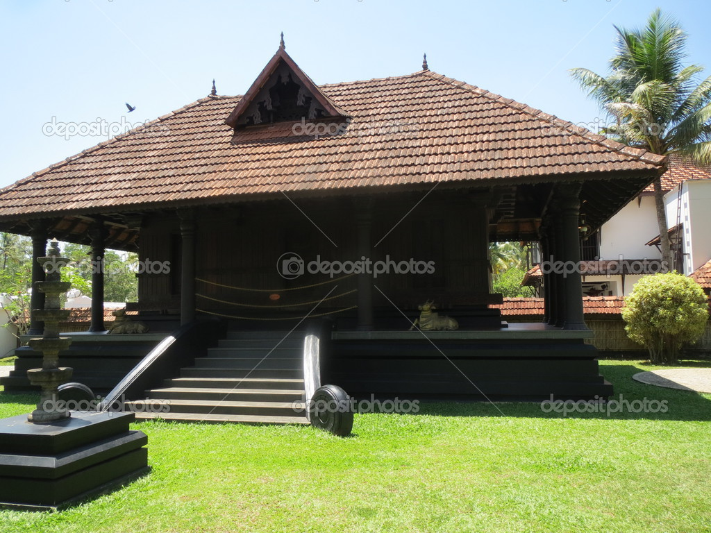 Traditional nalukettu house in kerala stock photo for New traditional house