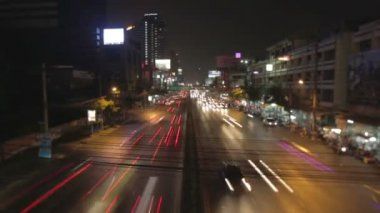 Bangkok city road timelapse — Stock Video