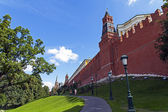 Moscow. A fragment of the Kremlin wall — Stock Photo