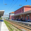 France, Cote d'Azur, in October 2013. The train station is an old French town of Antibes — Foto Stock