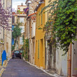 France, Cote d'Azur, in October 2013. Typical architectural details of the old French town of Antibes — Photo