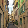 France, Cote d'Azur, in October 2013. Typical architectural details of the old French town of Antibes — Foto de Stock
