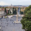 Rome, Italy. View of the Piazza del Popolo, from a high point — Stock Photo
