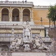 Rome , Italy. Fountain in Piazza del Popolo — Stock Photo