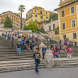 Rome, Italy. Tourists on the Spanish Steps — Zdjęcie stockowe