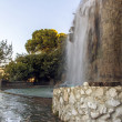 France , Nice. Artificial waterfall on the hill Chateau — Stock Photo
