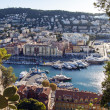 France , Nice, October 11, 2013 . View of the bay and the city's port . — Stock Photo #33979689