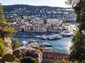 France , Nice, October 11, 2013 . View of the bay and the city's port . — Stock Photo