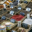 A variety of spices on the counter of the southern market — Stock Photo #34434725