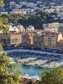 France , Cote d'Azur , in October 2013 . View of the city and port of the hill Chateau — Stock fotografie
