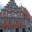 Riga , Latvia. Merchants House of Blackheads, the most beautiful house in the city — Stock Photo