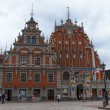 Riga, Latvia. Merchants House of Blackheads, the most beautiful house in the city — Stock Photo