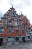 Riga , Latvia. Merchants House of Blackheads, the most beautiful house in the city — Stock fotografie
