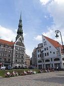 Latvia, Riga.Tipichny urban view — Stock Photo