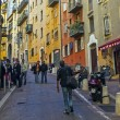 France , Nice. The narrow streets of the old town — Stock Photo
