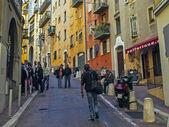 Francia, nice. las estrechas calles del casco antiguo — Foto de Stock