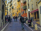 France , Nice. The narrow streets of the old town — Stock fotografie