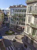 Frankrike, nice. utsikt över staden från fönstret — Stockfoto