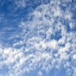 Heavenly landscape with white clouds — Stock Photo