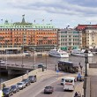 Stockholm . View of the city from the esplanade of the Royal Palace — Stock Photo