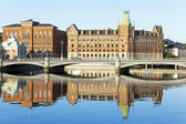 Stockholm . Architecture waterfront — Stock Photo