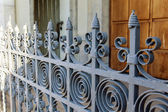 Stockholm , Sweden. Ancient forged decorative fence — Stock Photo