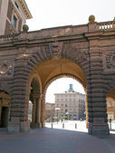 Stockholm . Architectural details of royal palace — Stock Photo
