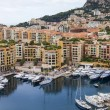 The Principality of Monaco. View of the harbor , yachts and residential areas with a high point — Stock Photo