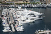 The Principality of Monaco, 13 October 2013 . The view from the highest point of the harbor and yacht berth — Stock Photo