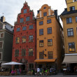 Stockholm , the island of Gamla Stan . The architecture of the old town — Stock Photo