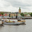 Stockholm , Sweden. Panorama of the waterfront — Photo