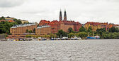 Stockholm , Sweden. Panorama of the waterfront — Foto Stock
