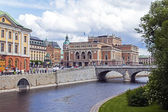 Stockholm . The complex of buildings of the Royal Palace — 图库照片