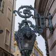 France , Nice. Typical architectural details of the old town. Beautiful antique lantern in the old town — Stock Photo
