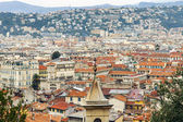 France , Nice, October 14, 2014 . View of the old city from the hill Chateau. — Stock Photo