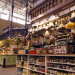 Stockholm , Sweden. The interior of the central market . Swedish Trade products — Stock Photo