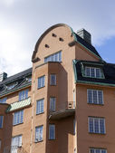 Stockholm , Sweden. Typical details of Scandinavian architecture — Stock Photo